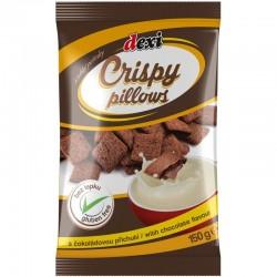 Ropogós párnák csokoládé ízesítésű töltelékkel, Dexi